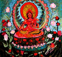 Red Tara. by Marilyn Baldey