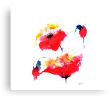 """Two red flowers"" Canvas Print"