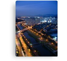 Tancheon River After Dark Canvas Print