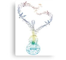 Guitar and Music Notes 2 Canvas Print