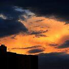 Fire in the night sky by Anita Schuler