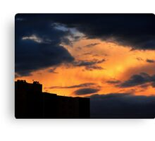 Fire in the night sky Canvas Print