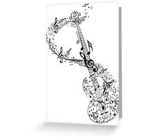 Guitar and Music Notes Greeting Card