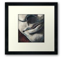 charcoal & pastel play Framed Print