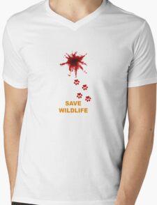 Save Wildlife Mens V-Neck T-Shirt