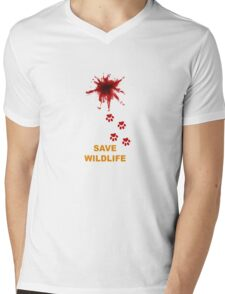 Save Wildlife Mens V-Neck T-Shirt