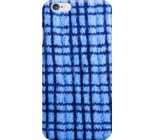 Blue Plaid Knitting iPhone Case/Skin