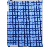 Blue Plaid Knitting iPad Case/Skin