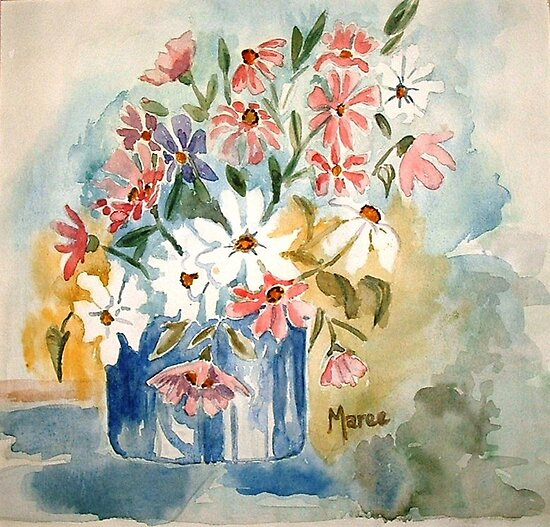 Cosmos in a pot by Maree  Clarkson