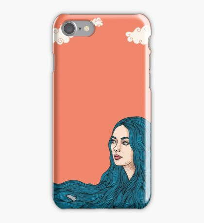 Ella y el mar iPhone Case/Skin