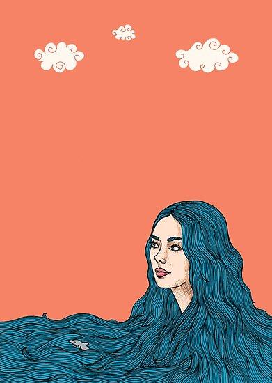 Ella y el mar by stardixa