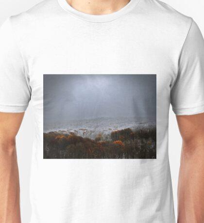 Orange And White Unisex T-Shirt