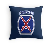 10th Mountain Division Throw Pillow