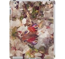 Butterfly on Blossom Watercolour iPad Case/Skin