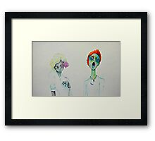 Flower Zombies Framed Print