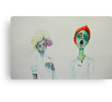 Flower Zombies Canvas Print