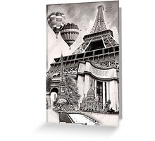 French Collage v2 Greeting Card