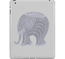 Lacy gray doodle elephant in gray iPad Case/Skin