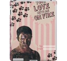 My Teenwolfed Valentine [Your Love Sets Me On Fire] iPad Case/Skin