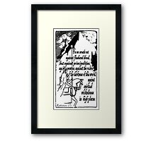EPHESIANS 6:12 - WICKEDNESS IN HIGH PLACES Framed Print