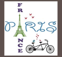 Paris Eiffel Tower One Piece - Short Sleeve