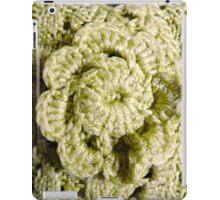Green Crochet Flower iPad Case/Skin