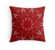 Petals of Red Throw Pillow