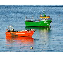 Two boats, Cascais, Portugal Photographic Print