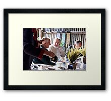 tea service Framed Print
