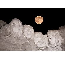 Blue moon over Mount Rushmore National Memorial Photographic Print