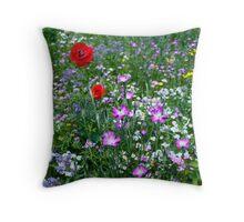 Wild flower Meadow Throw Pillow