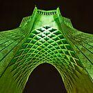 Azadi Tower (Green) -Tehran - Iran by Bryan Freeman
