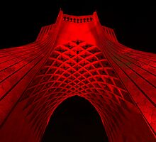 Azadi Tower (Red) -Tehran - Iran by Bryan Freeman