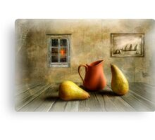 Pitcher and Pears Canvas Print