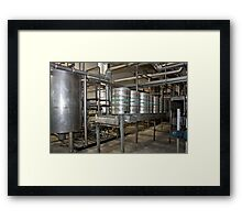 Line for filling kegs of beer Framed Print