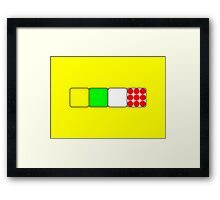Tour de France Jerseys 2 Yellow Framed Print