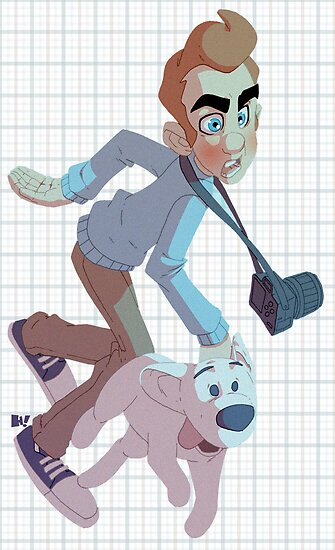 Tintin and Snowy. by Hugh Freeman