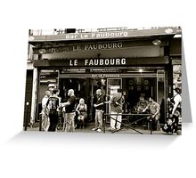 Le Faubourg Greeting Card