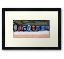 Beach Huts On Wells Beach Framed Print