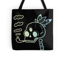 Crazy indian skull Tote Bag