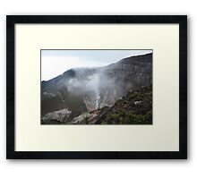 Smoking Crater of Gunung Gede Framed Print