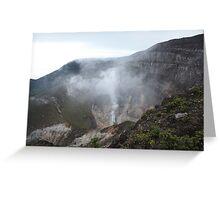 Smoking Crater of Gunung Gede Greeting Card
