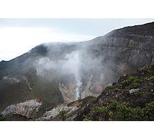 Smoking Crater of Gunung Gede Photographic Print