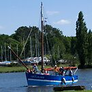 The blue fishing boat by Alan Gillam