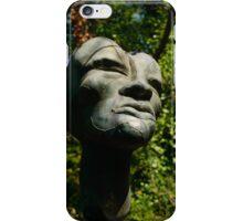 Sculpted face, Il Giardino di Daniel Spoerri, Italy, Seggiano, Tuscany iPhone Case/Skin