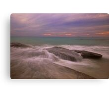 cable beach rocks storm Canvas Print
