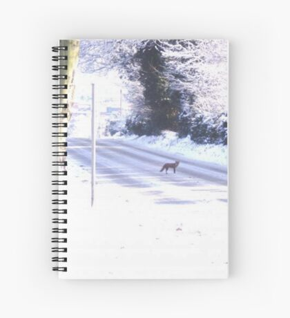 Fox in the Snow Spiral Notebook