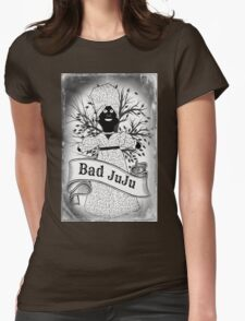 Bad Juju Voodoo Doll Womens Fitted T-Shirt