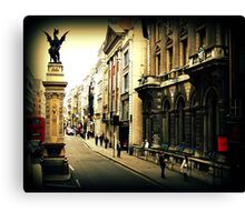 Dragon Amidst London Canvas Print
