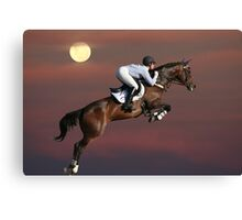 Jump for the Moon Canvas Print